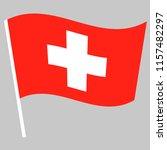 flag of switzerland waving on... | Shutterstock .eps vector #1157482297