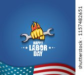 labor day usa vector label or... | Shutterstock .eps vector #1157482651
