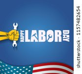 labor day usa vector label or... | Shutterstock .eps vector #1157482654