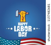 labor day usa vector label or... | Shutterstock .eps vector #1157482681