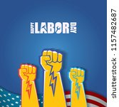 labor day usa vector label or... | Shutterstock .eps vector #1157482687