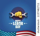 labor day usa vector label or... | Shutterstock .eps vector #1157482711