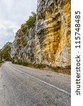 Road Along The Danube Rocks In...
