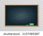 empty school blackboard on... | Shutterstock .eps vector #1157485387