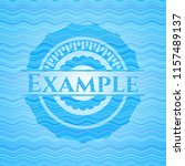 example water wave style emblem. | Shutterstock .eps vector #1157489137