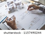 architect design working... | Shutterstock . vector #1157490244