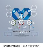 business infographic layout | Shutterstock .eps vector #1157491954