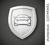 protect car guard shield.... | Shutterstock .eps vector #1157493451