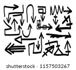 hand drawn arrows set on a... | Shutterstock .eps vector #1157503267