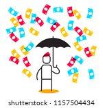 financial success linear... | Shutterstock .eps vector #1157504434