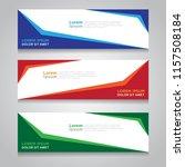 vector abstract design banner... | Shutterstock .eps vector #1157508184
