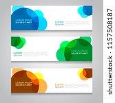 vector abstract design banner... | Shutterstock .eps vector #1157508187