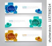 vector abstract design banner... | Shutterstock .eps vector #1157508214
