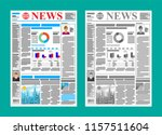 daily newspaper in color and... | Shutterstock .eps vector #1157511604
