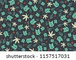 many kinf of leafs pattern and... | Shutterstock .eps vector #1157517031