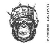 gorilla head in monochrome... | Shutterstock .eps vector #1157519761