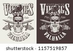 t shirt print with viking head... | Shutterstock .eps vector #1157519857