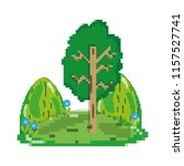 pixelated landscape with trees... | Shutterstock .eps vector #1157527741