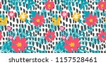exotic seamless pattern  ... | Shutterstock . vector #1157528461