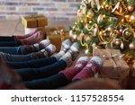 christmas socks. group of... | Shutterstock . vector #1157528554