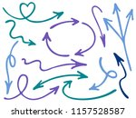 hand drawn diagram arrow icons... | Shutterstock .eps vector #1157528587