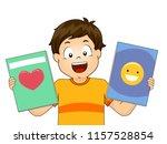 illustration of a kid boy... | Shutterstock .eps vector #1157528854