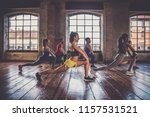 multi ethnic group of people... | Shutterstock . vector #1157531521