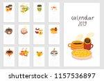 calendar 2019. fun  cozy and...   Shutterstock .eps vector #1157536897