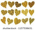 hand drawn hearts set | Shutterstock .eps vector #1157538631