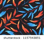 watercolor background with... | Shutterstock . vector #1157543851