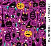 magic halloween objects. hand... | Shutterstock .eps vector #1157550694