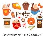 pumpkin spice. various tasty... | Shutterstock .eps vector #1157550697