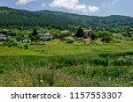 springtime green forest  glade  ...   Shutterstock . vector #1157553307