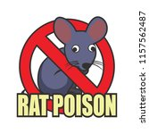 rat killer poison logo isolated ... | Shutterstock .eps vector #1157562487