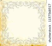 retro baroque decorations... | Shutterstock .eps vector #1157568517