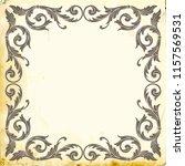 retro baroque decorations...   Shutterstock .eps vector #1157569531