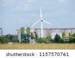 wind turbine general view... | Shutterstock . vector #1157570761