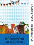 oktoberfest design. background... | Shutterstock .eps vector #1157580994