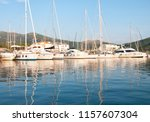 harbor with yachts and... | Shutterstock . vector #1157607304