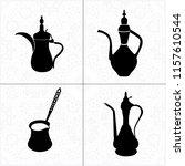 set of black arabic oriental... | Shutterstock . vector #1157610544