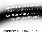 Small photo of undermine word in a dictionary. undermine concept.