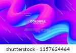 colorful liquid shapes.... | Shutterstock .eps vector #1157624464
