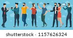 young trendy  people with... | Shutterstock .eps vector #1157626324