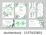 eucalyptus design. wedding... | Shutterstock .eps vector #1157632801