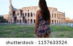 beautiful slender millennial... | Shutterstock . vector #1157633524