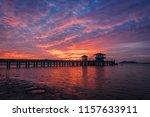 beautiful twilight sun in...   Shutterstock . vector #1157633911