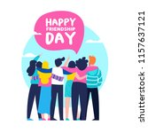 happy friendship day greeting... | Shutterstock .eps vector #1157637121