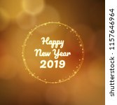 happy new year 2019 in circle... | Shutterstock .eps vector #1157646964