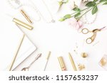 beauty blog background. gold... | Shutterstock . vector #1157653237