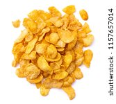crispy delicious corn flakes | Shutterstock . vector #1157657014